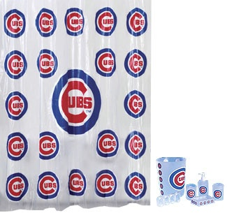 Chicago Cubs Mlb 7pc Frosty Bathroom Shower Curtain Set Ebay