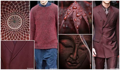 Top Color, Menswear Market, F/W 2015-16, CLARET RED (Regal Shades)