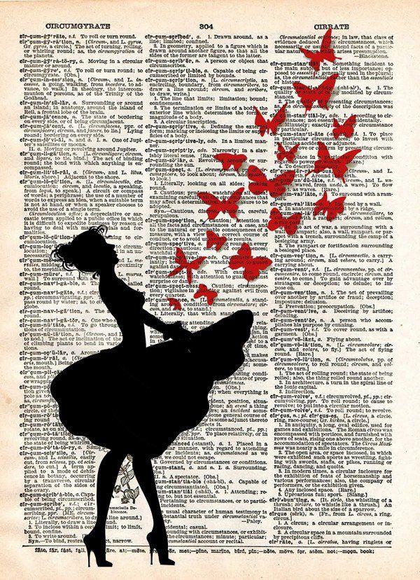 Ballerina artwork, Ballerina art, dancer artwork, girl releases butterflies