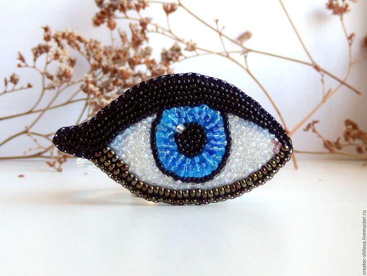"""Купить Брошь """"Глаз"""" - комбинированный, глаз, Глаза, необычное украшение, необычная брошь, eyes"""
