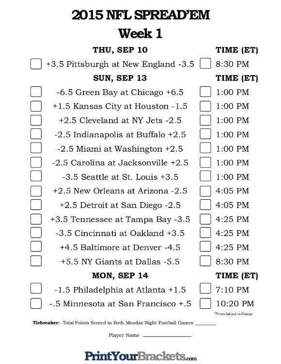 nfl week 1 betting odds nfl sports bedding
