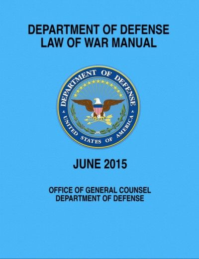"""Pentagon's New """"Law of War"""" Manual """"Reduces Us to the Level of Nazis"""""""