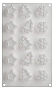 Silikon-Muffinform 'Magic Winter'