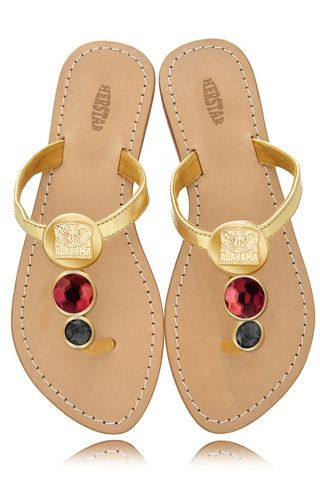 Alabama Crimson Tide Ladies Jewel Embellished Flat Sandals. For at the reception.