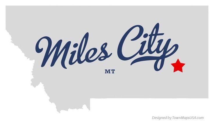 Map of Miles City Montana MT