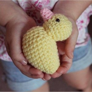 The Little Yellow Duck Project - crochet - knit.  Go to the link to see what this project is all about and read some inspiring stories about organ transplants.