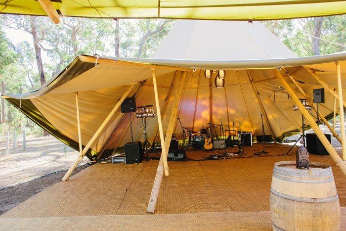 Tipi band stage & dance floor - THE ZEST GROUP WA - www.thezestgroupwa.com.au