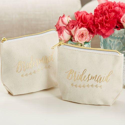 Bridesmaid Canvas Makeup Bag