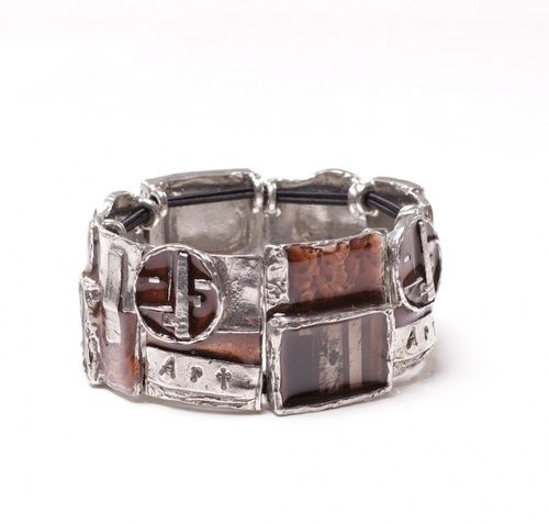 Lovely #pewter #bracelet. #Handmade #jewellery by #NES, Montreal. - $119.00