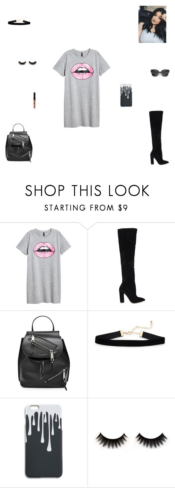 """kylie jenner lips"" by synclairel ❤ liked on Polyvore featuring H&M, ALDO, Marc Jacobs, Spring, cute, casual and ootd"