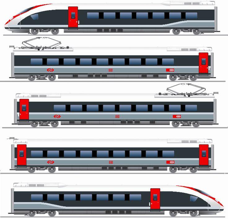SBB DB ICE 3 BR 407 VELARO. nieuwe EuroCity tussen Amsterdam Centraal - Basel SBB. deze Trein heeft 16 rijtuigen