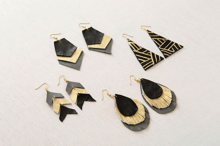 4 Ways to Make Leather Earrings via Brit + Co