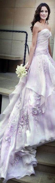 Blanka Matragi Lilac Wedding Dress
