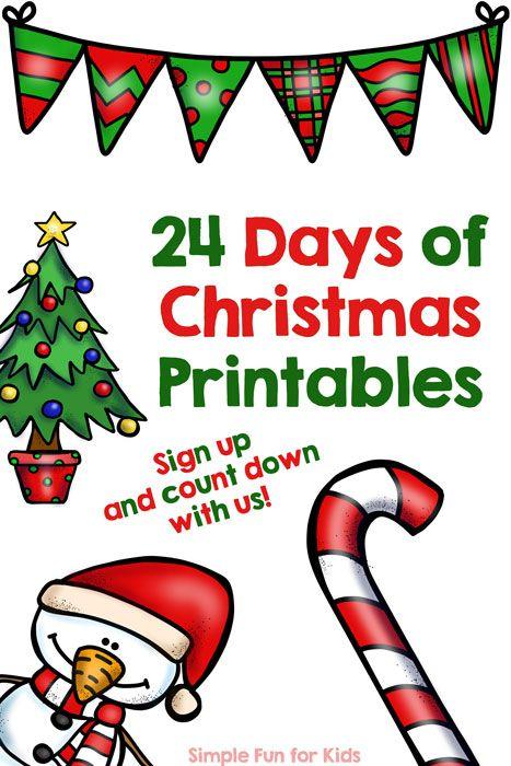 Advent Calendar Preschool : Advent calendar days of christmas printables
