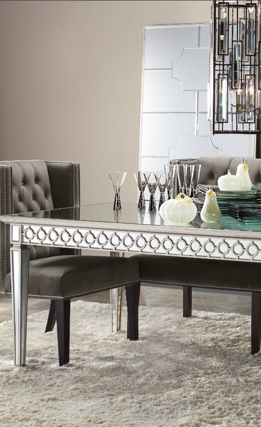 Great Welcome Home: Sophie Mirrored Dining Table U0026 Logan Chair Awesome Design