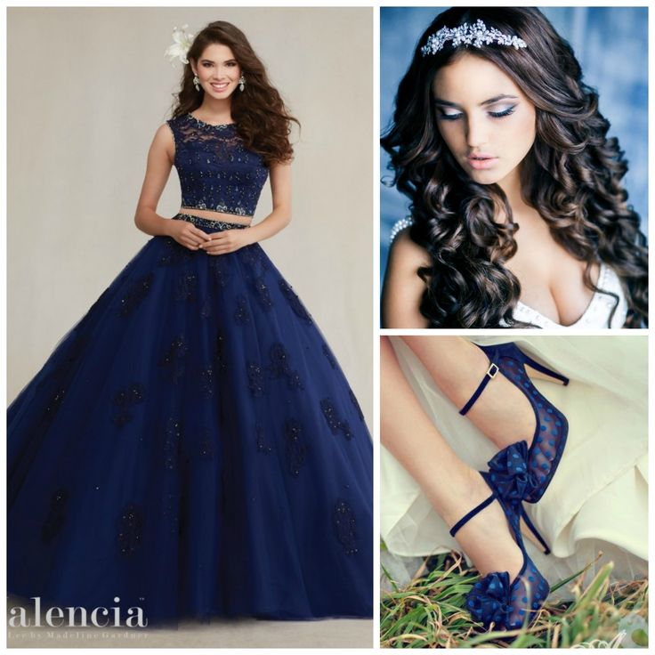 Blue Color Theme Ideas | Quinceanera Dresses Blue | Quinceanera Makeup | Quinceanera Hairstyle | Quinceanera Accessories | Quinceanera Heels |