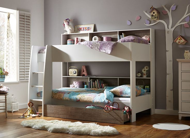 With added shelf storage on one side and the option to buy the underbed storage drawer, the Erin is perfect for any kids' room.
