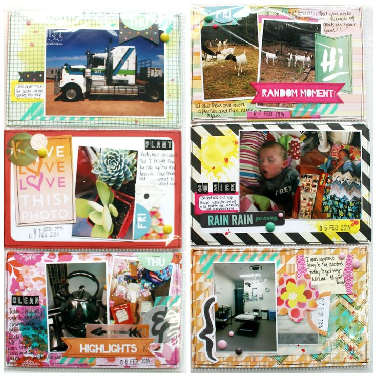 Project Life layout by Bernii Miller using Polly! Scrap Kits May 2014 Tropical Twilight Pocket Life kit #pollyscrap