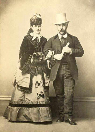 Benjamín Vicuña Mackenna y su esposa Victoria Subercaseaux.