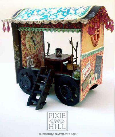 A Little Gypsy Wagon by knickertwist