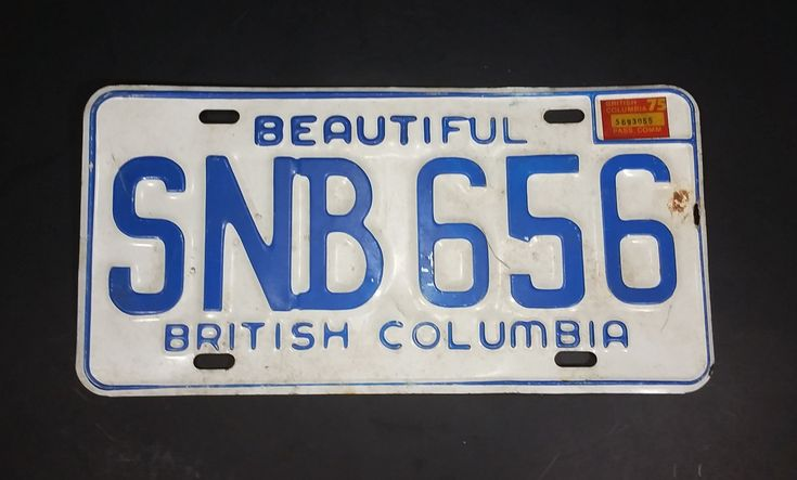 1975 Beautiful British Columbia White with Blue Letters Vehicle License Plate SNB 656 https://treasurevalleyantiques.com/products/1975-beautiful-british-columbia-white-with-blue-letters-vehicle-license-plate-snb-656 #Vintage #1970s #70s #Seventies #BeautifulBC #BritishColumbia #Canada #Canadian #LicensePlates #Vehicles #Autos #Automobilia #Mancave #SheShed #Garage #Collectibles #Cars