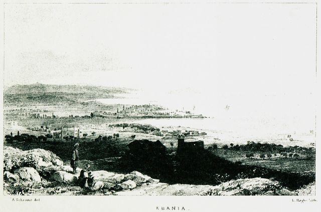 Άποψη των Χανίων.1837 - PASHLEY, Robert - ME TO BΛΕΜΜΑ ΤΩΝ ΠΕΡΙΗΓΗΤΩΝ - Τόποι - Μνημεία - Άνθρωποι - Νοτιοανατολική Ευρώπη - Ανατολική Μεσόγειος - Ελλάδα - Μικρά Ασία - Νότιος Ιταλία, 15ος - 20ός αιώνας