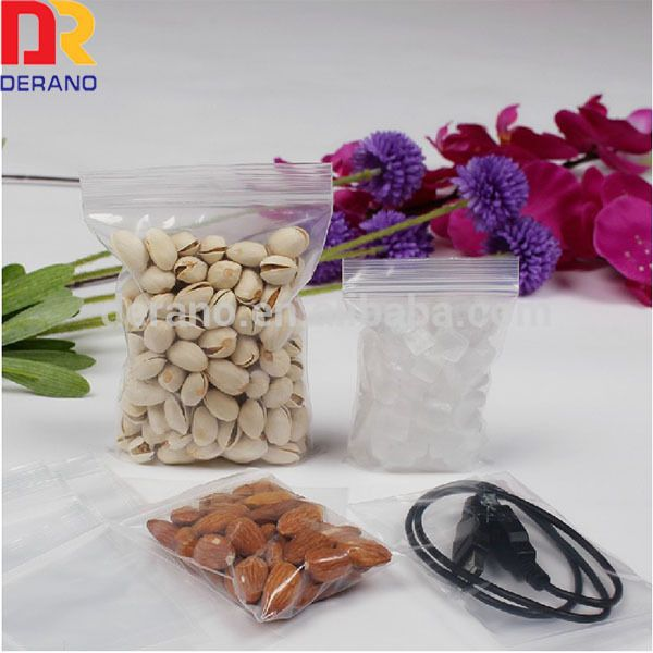 Food Storage Bag clear ziplock  bags are designed with a re-closable plastic zipper track. Consumers can easily close bags numerous times by pressing the zipper track.