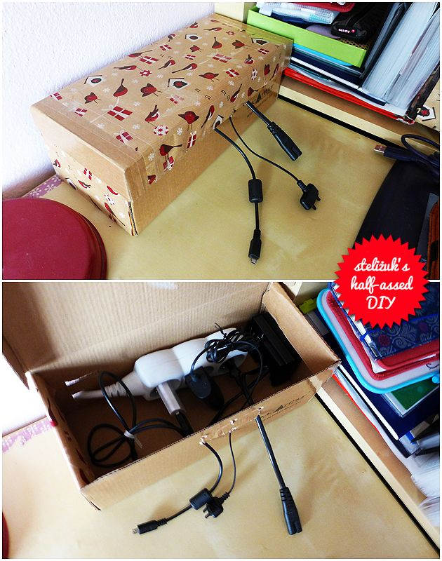 shoe box > charging station