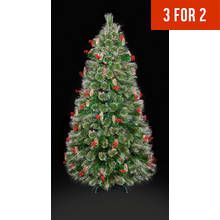 Premier Decorations 4ft LED Tipped Bottle Brush Tree – Green