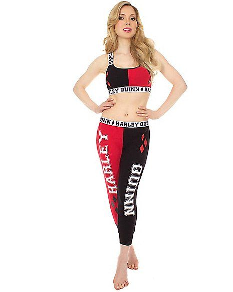 Harley Quinn Bandeau Jogging Suit - Spencer's