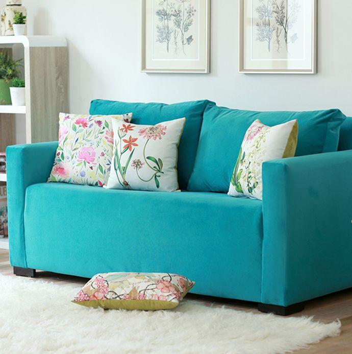 ¡Anímate con un #sofá fuera de lo común! #Living ##Turquesa #Homy