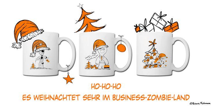 Weihnachtstassen im Business-Zombies & Friends Shop, (c) Bianca Fuhrmann