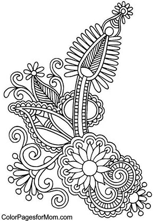 paisley coloring pages - Adult Pictures To Color