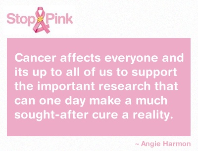 The Stop campaign raises funds and awareness for Cancer Council's Pink Ribbon in NSW so we are able to support those affected by breast (and gynaecological) cancers through prevention programs, support services and world-class research. http://www.pinkribbonfundraiser.com.au/ #quote #inspiration
