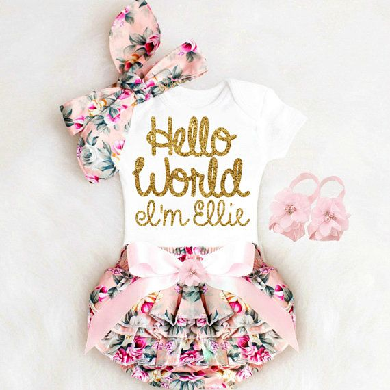 Baby Mädchen Coming Home Outfit Neugeborene Mädchen Take Home Outfit personalisierte Baby Mädchen Kleidung Winter Boho Baby Kleidung   – Baby