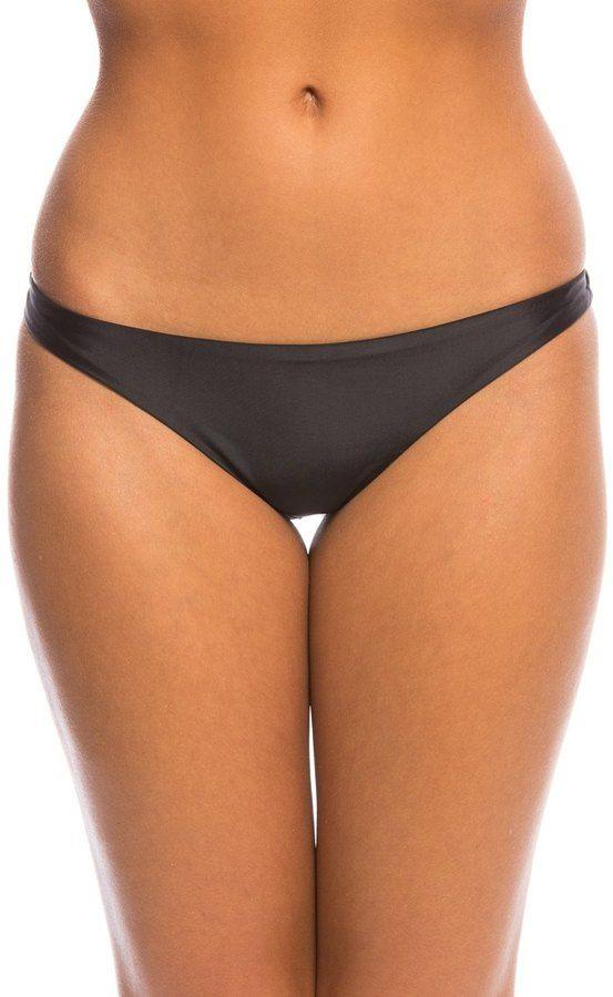 Sofia Solid Black Anne Brazilian Bikini Bottom 8140424
