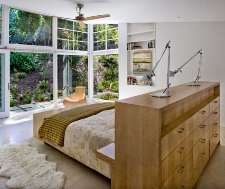 Almacenaje detrás de la cama .   Decorar tu casa es facilisimo.com