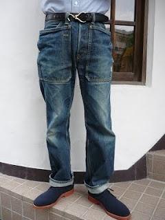 Sassafras Fall Leaf Pants, with large overlaying pockets!: Leaf Denim, 1000Sassa Denim, Fall Leaves,  Blue Jeans, Leaf Pants, Overlay Pocket, 1 6 Blue Denim Styl Mn, Denim Snap, Denim Secret