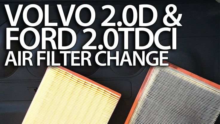 How to change air filter #Volvo 2.0D #Ford 2.0TDCi 136PS - C30 S40 V50 C70 Focus C-Max S-Max #service