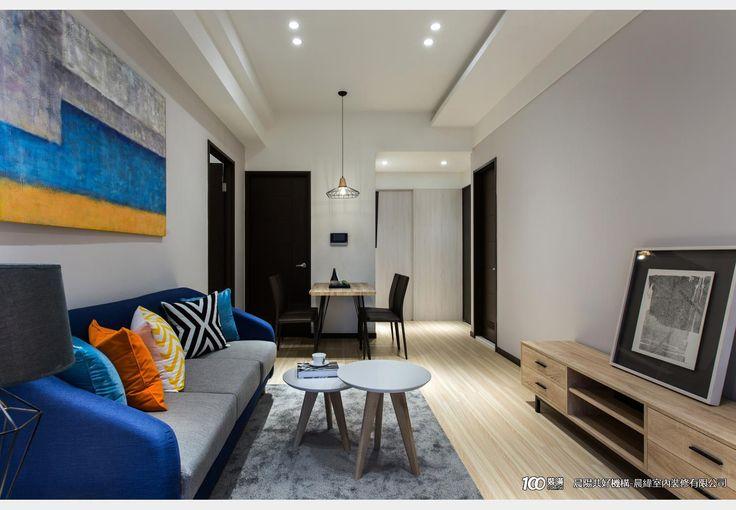 俐落輕美式_美式風設計個案—100裝潢網