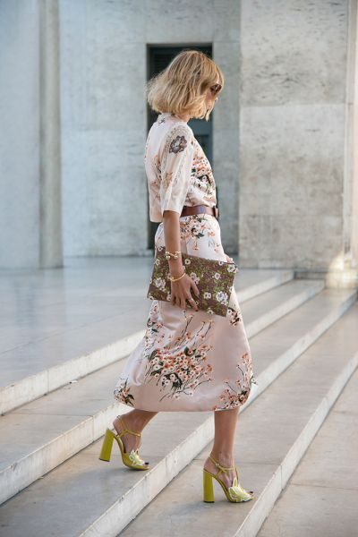 SS2017 spring summer flower dress soft rose. Mixing flower prints