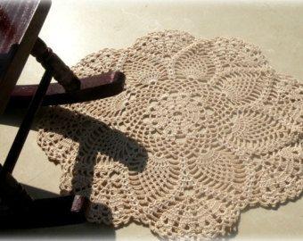Haak tapijt Shabby chic groot tapijt door RainbowCrochetIdeas