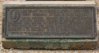 Meet Dr. Henry Woodward, first settler of Beaufort