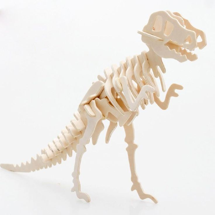 DIY Puzzle Wooden Toys 3D Stereo Dinosaur Jigsaw Puzzle Model Children