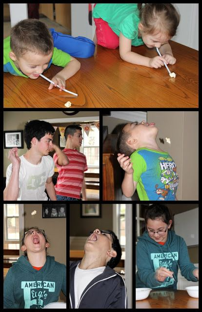 The Popcorn Olympics ~ Fun Activity for Kids! (she: Veronica) - Or so she says... Fun for the whole family. The kids might need to be a little older. Would also be fun for a bday party.