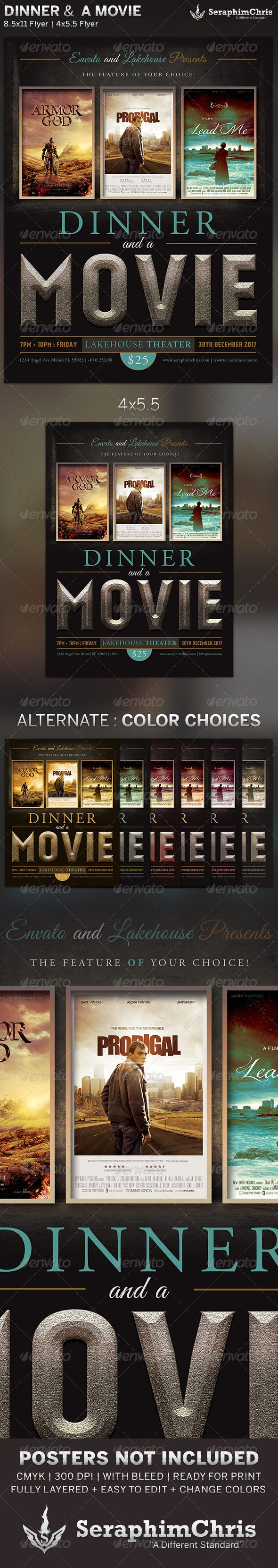 17 best images about flyer ideas clip art movie dinner and a movie flyer template
