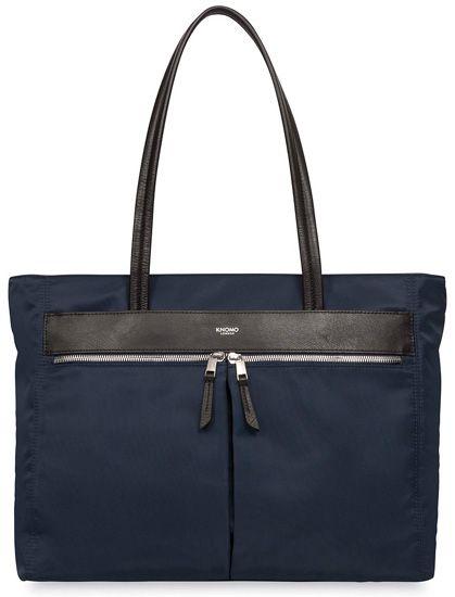 Knomo bags are classic elegance. Mayfair Grosvenor Square Nylon Top Zip Tote - Navy