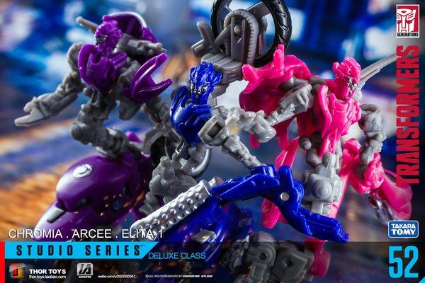 1 action figure 3 Pack Transformers Toys Studio Series 52 Arcee chromia Elita