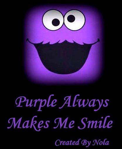 Purple Always makes me Smile ♡♡♡
