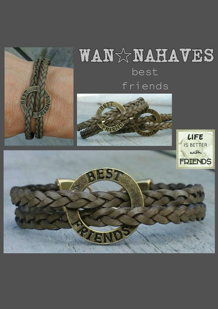 Best friends armbandjes, leuk om samen te kopen of om weg te geven!  In army, grijs en aarde. €15,- per stuk #wannahaves #handmade #handgemaakt #mode #fashion #sieraden #jewelry #bracelets #armbanden
